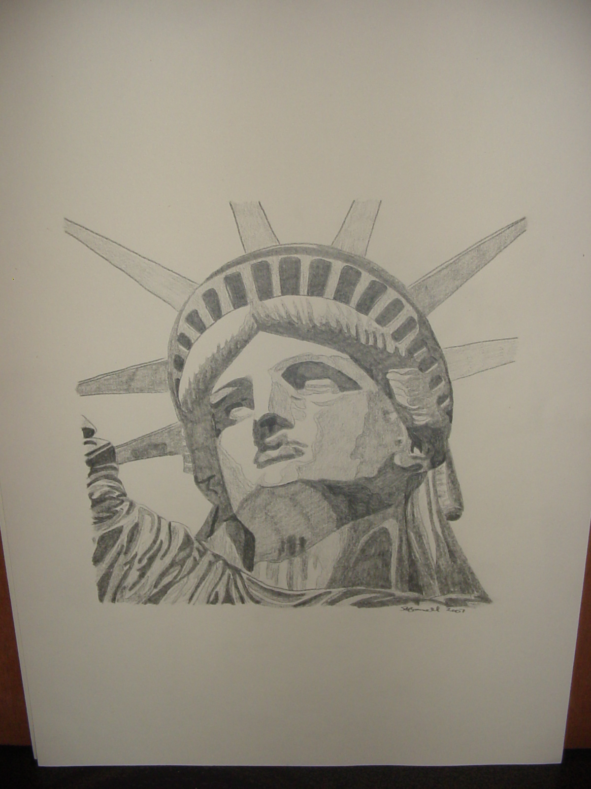 1200x1600 Pencil Drawing Statue Of Liberty My Paintings