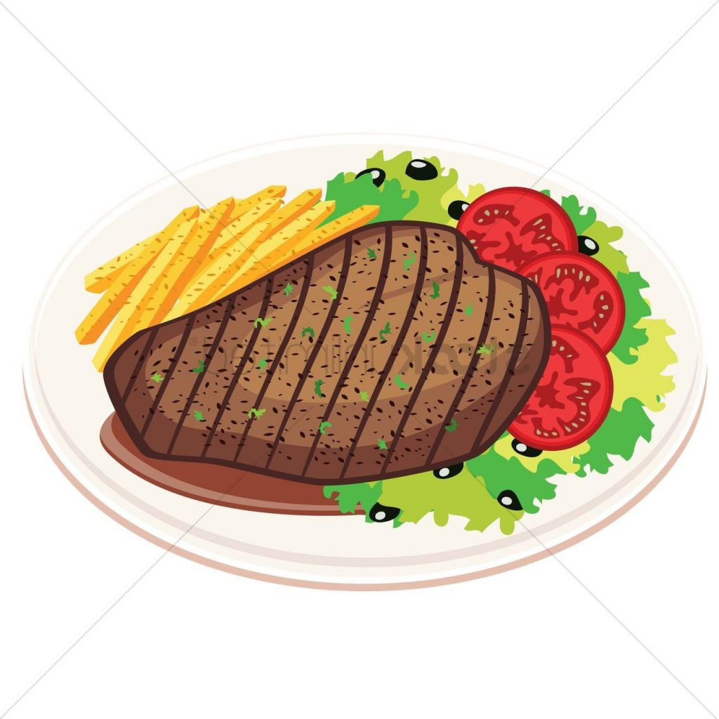 1024x1024 Best Hd Grilled Steak With Fries And Drawing