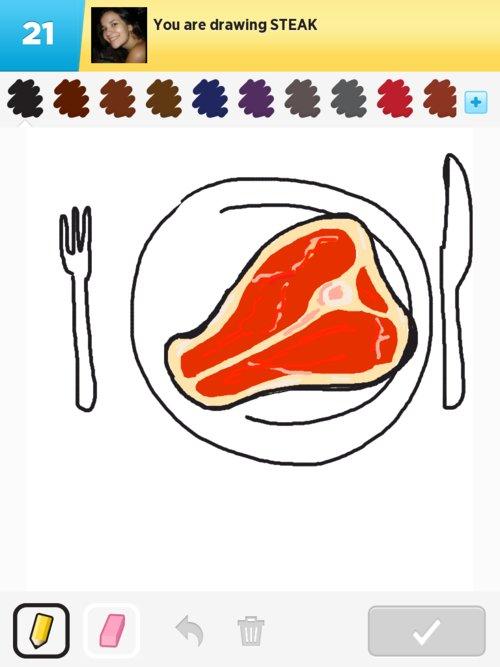500x667 Steak Drawings