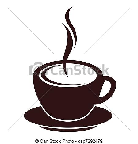 450x470 Silhouette Of Coffee Cup With Steam On White Eps Vectors
