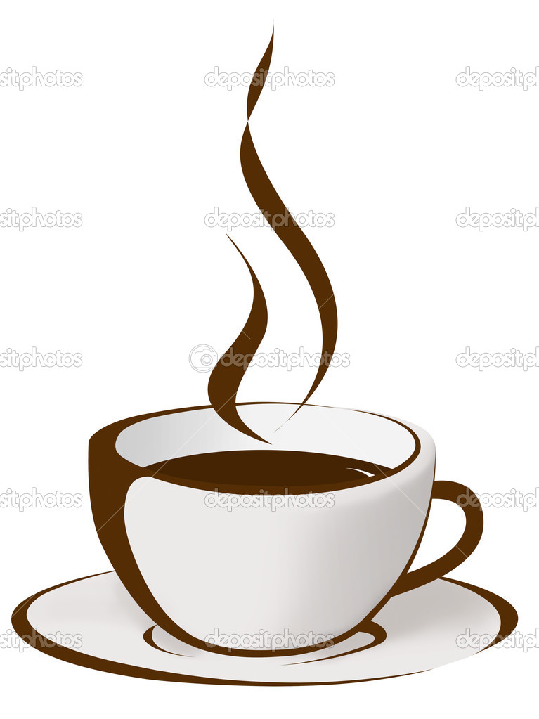 767x1023 Steaming Cup Coffee Drawing Depositphotos 12701356 Cup