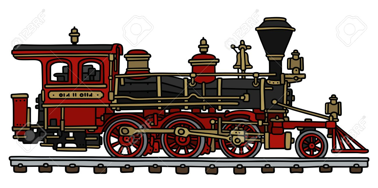 Steam Engine Drawing at GetDrawings | Free download