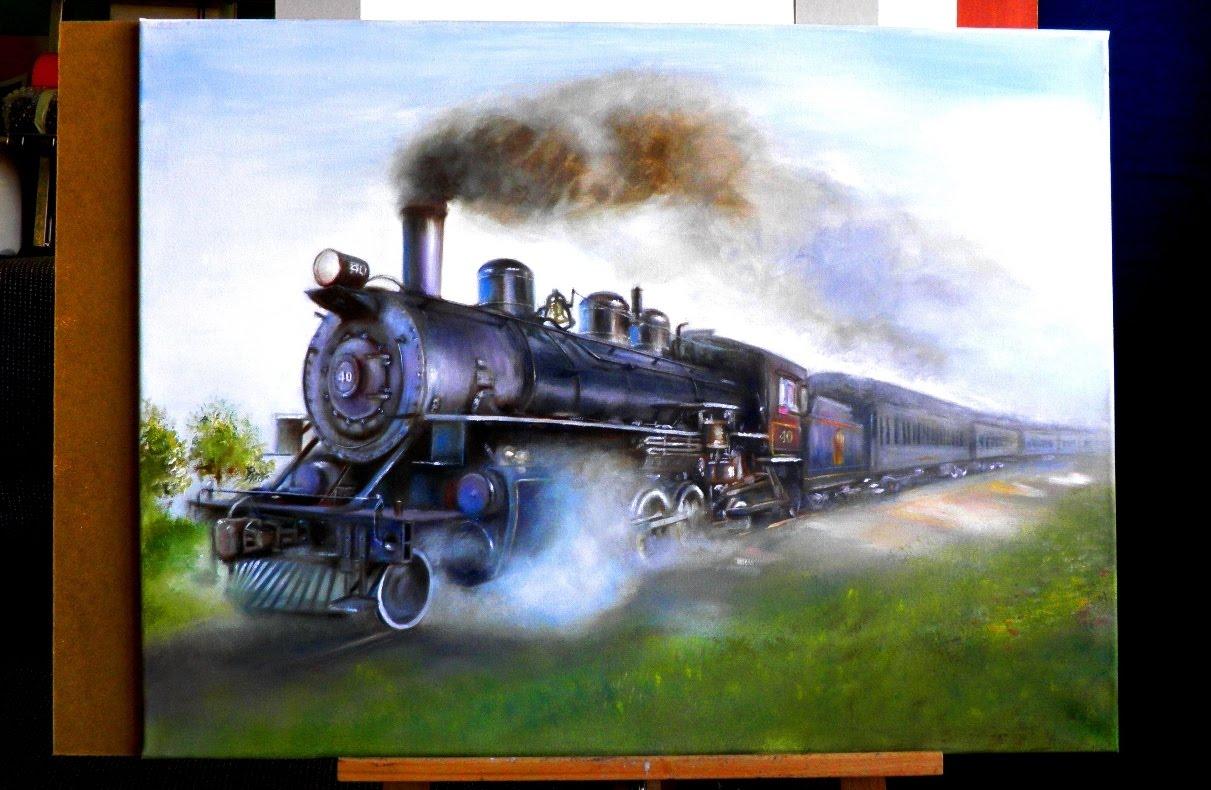 1211x790 How I Drew A Steam Locomotive (Drawing Locomotive)