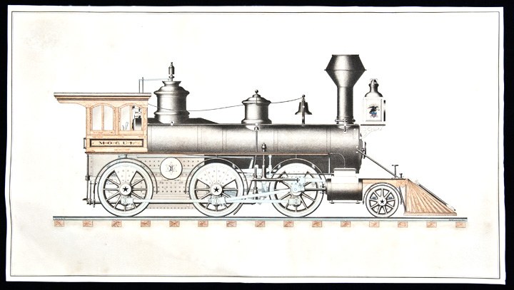 720x407 Steam Locotmotive Original Inkd Watercolour Drawing