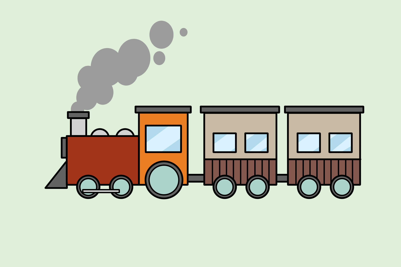 3000x2000 4 Ways To Draw A Train