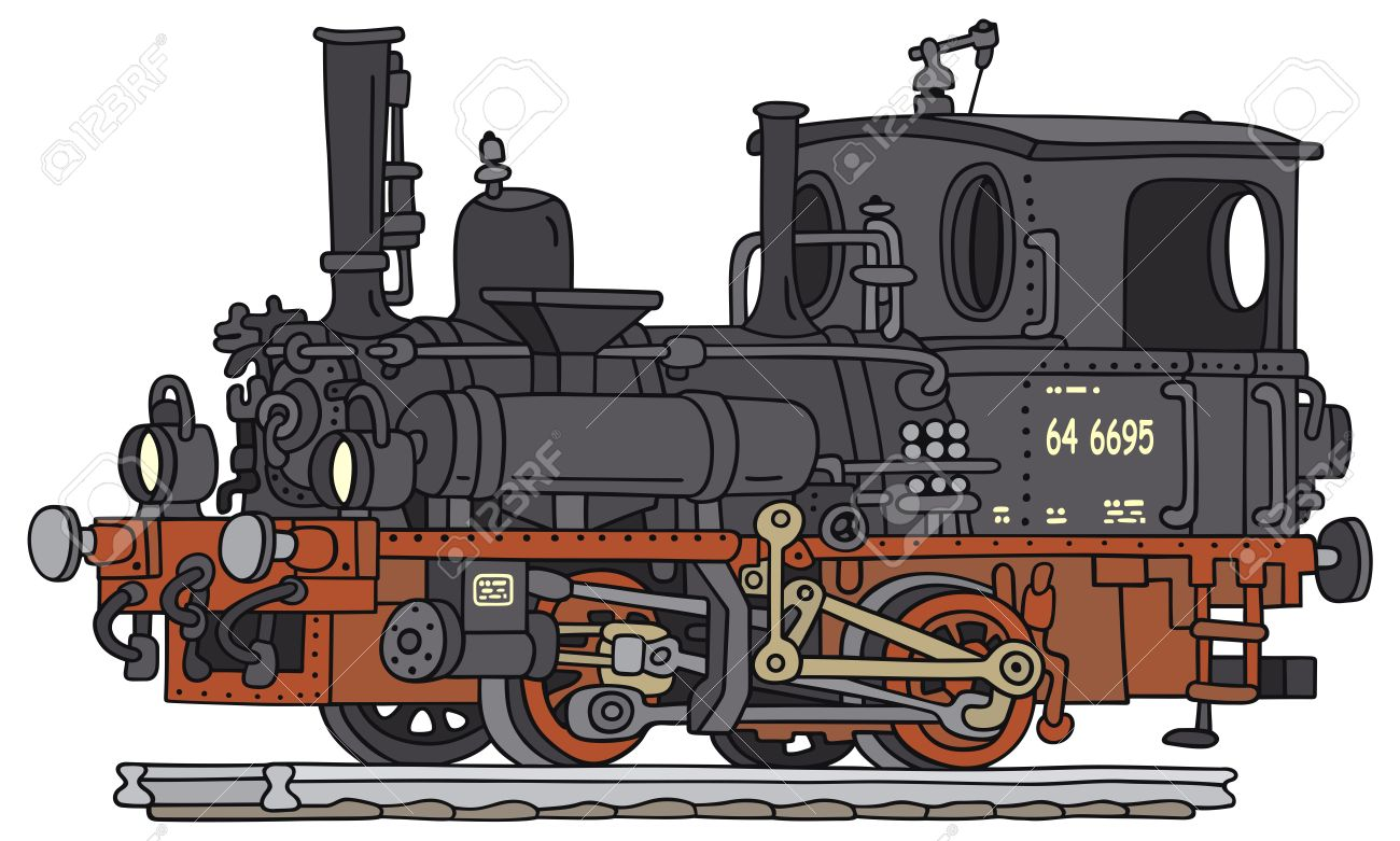 Steam engine train drawing at free for - Locomotive dessin ...