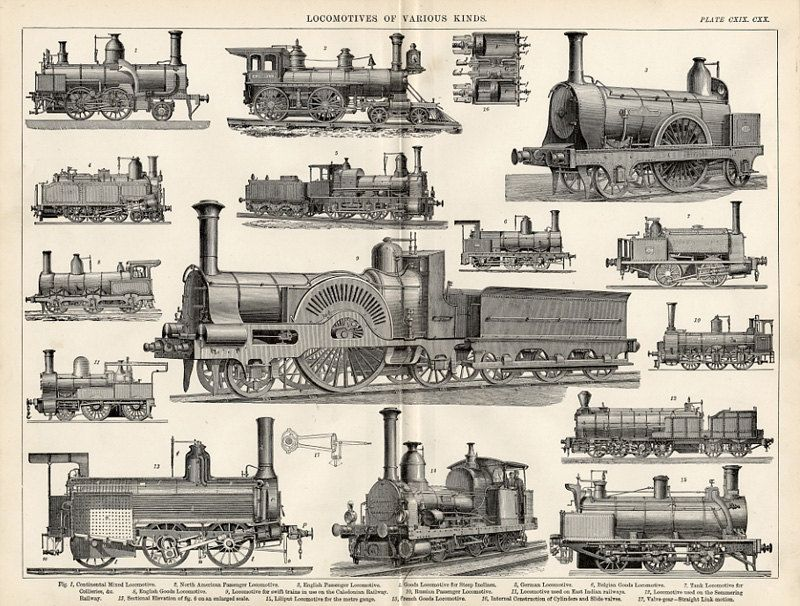 800x606 Steam Locomotives Print