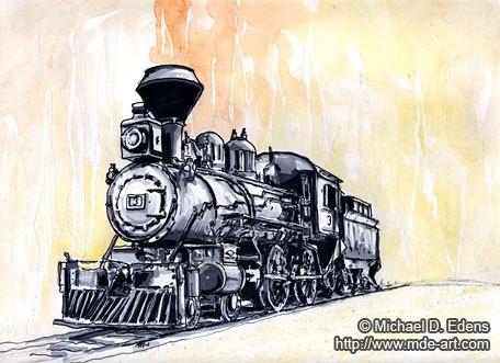 456x331 Of A Steam Engine Train