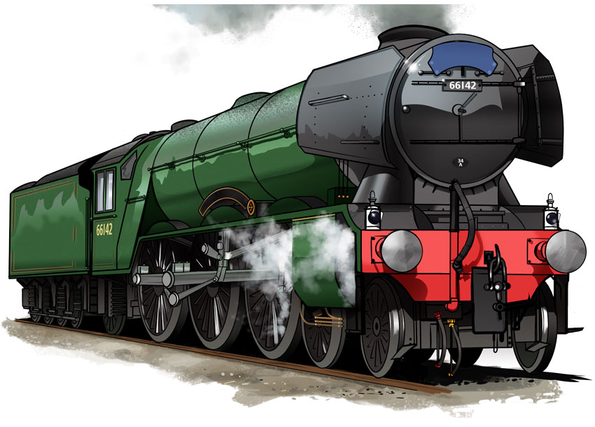 850x610 To Draw A Classic Steam Locomotive From Scratch