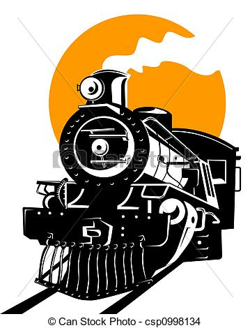359x470 Drawing Of Steam Train