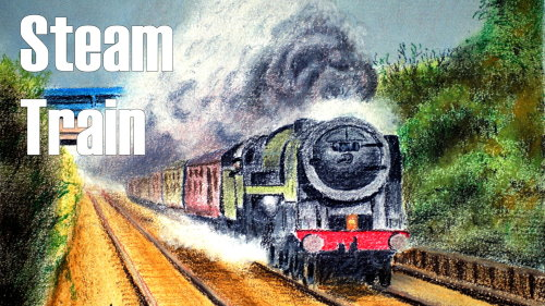 500x281 How To Draw A Steam Train In Soft Pastel Online Art Lessons