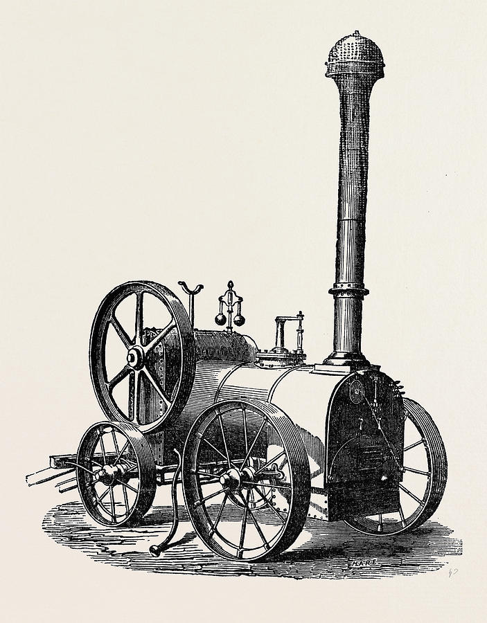 703x900 Side View Of Tuxford And Sons Prize Portable Steam Engine Drawing