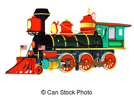 270x194 Steam Train Or Locomotive Side View Illustrations And Stock Art
