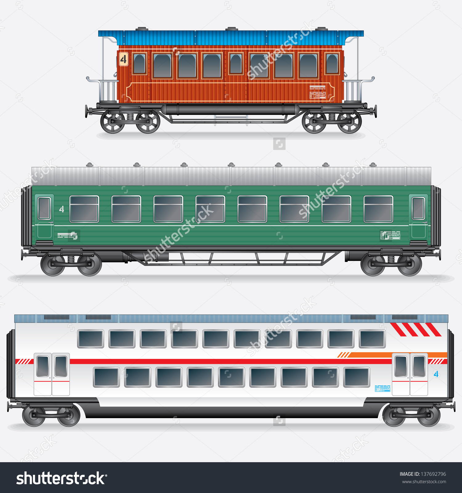 1500x1600 Passenger Train Box Car Side View Full Of People