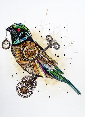 299x409 Steampunk Sparrow