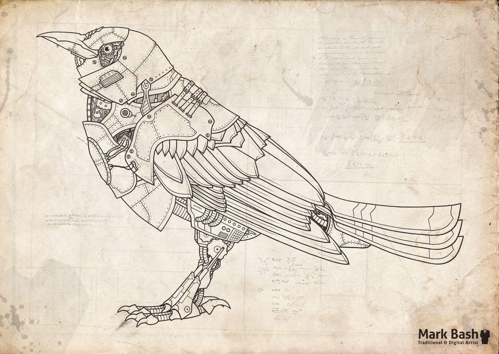 1600x1136 The Mechanical Bird By Mark On @