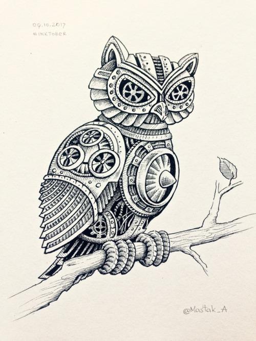 500x667 Owl Steampunk Tumblr