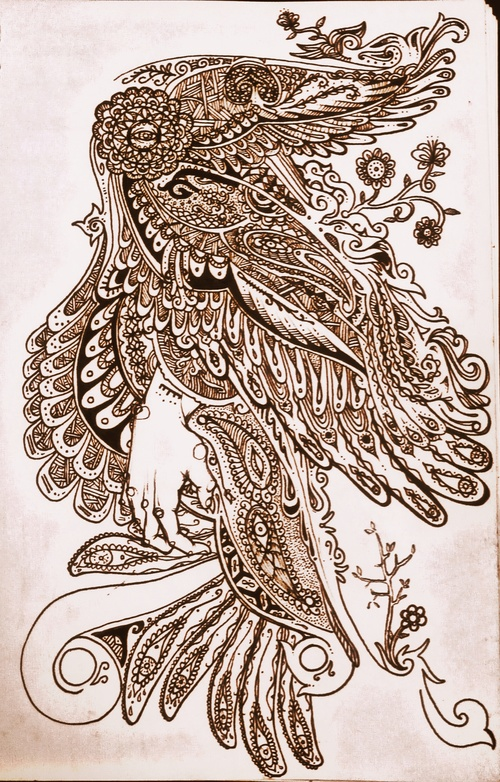 500x782 Steampunk Butterfly Drawing