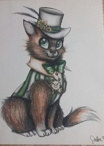 215x300 Steampunk Cat Drawing Ebay