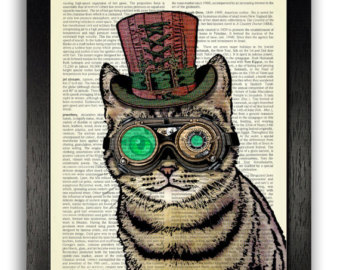 340x270 Steampunk Cat Etsy