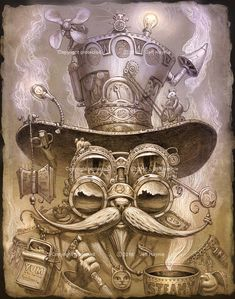 235x299 Steampunktendencies Jeff Haynie Art Steampunk Cat, Cat
