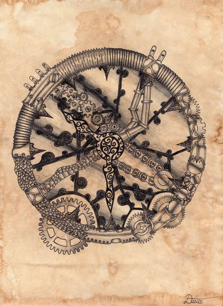 764x1046 Steampunk Clock Tattoo Drawings Steam Punk
