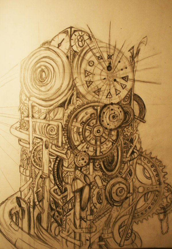 600x871 Steampunk Clock Tower By ~twilightgryphin On Night