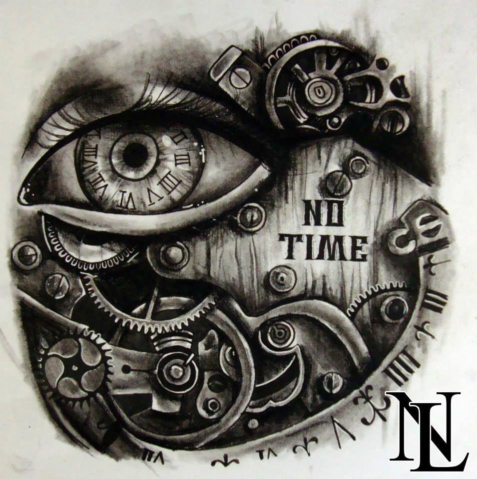 955x960 Steampunk Eye Clock As Clocks, Eye And Metal Tattoo