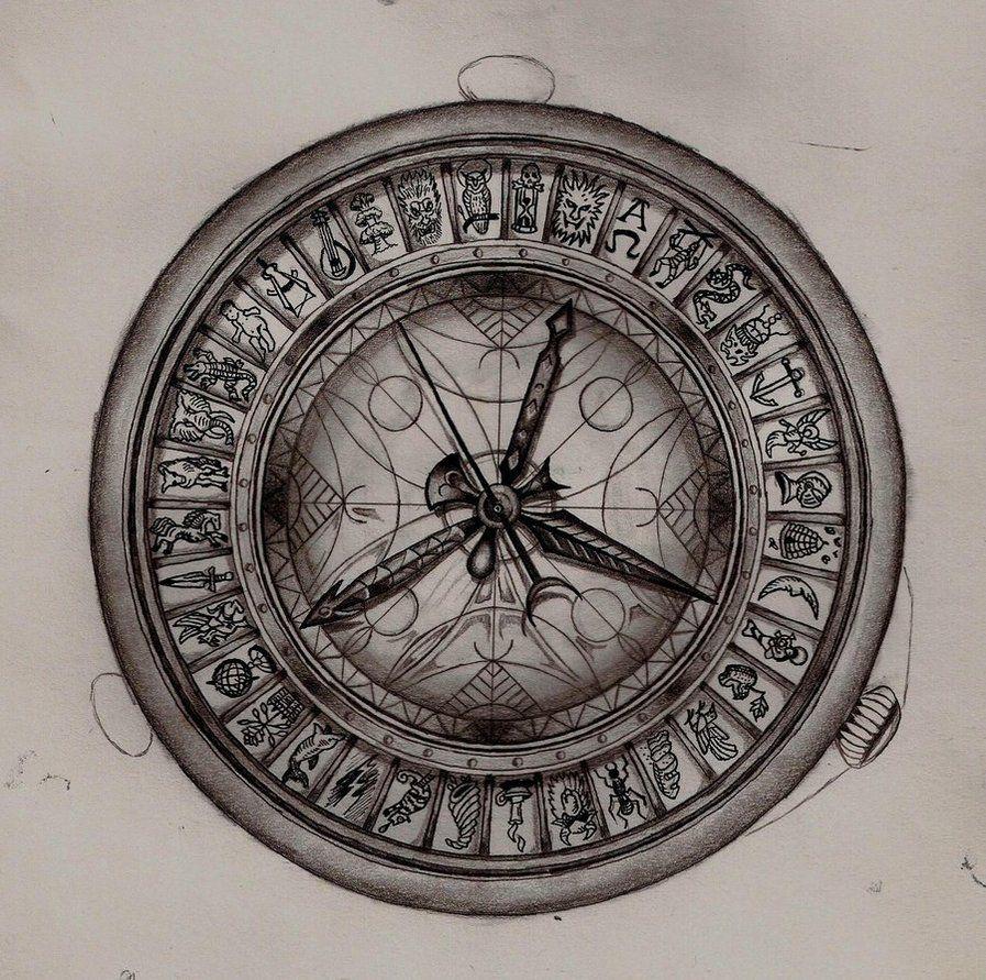 897x891 Alethiometer Drawing