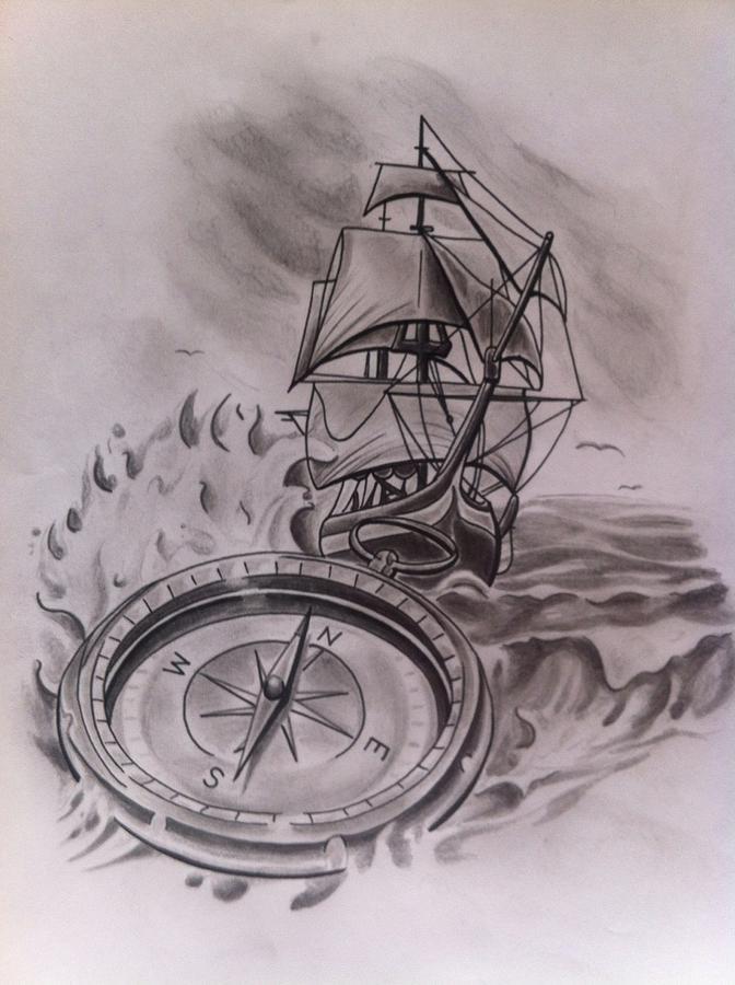 672x900 Rough Seas Drawing By Josh Tremblay