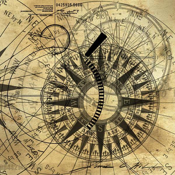 600x600 Steampunk Compass Art Print Tattooslt3 Compass Art