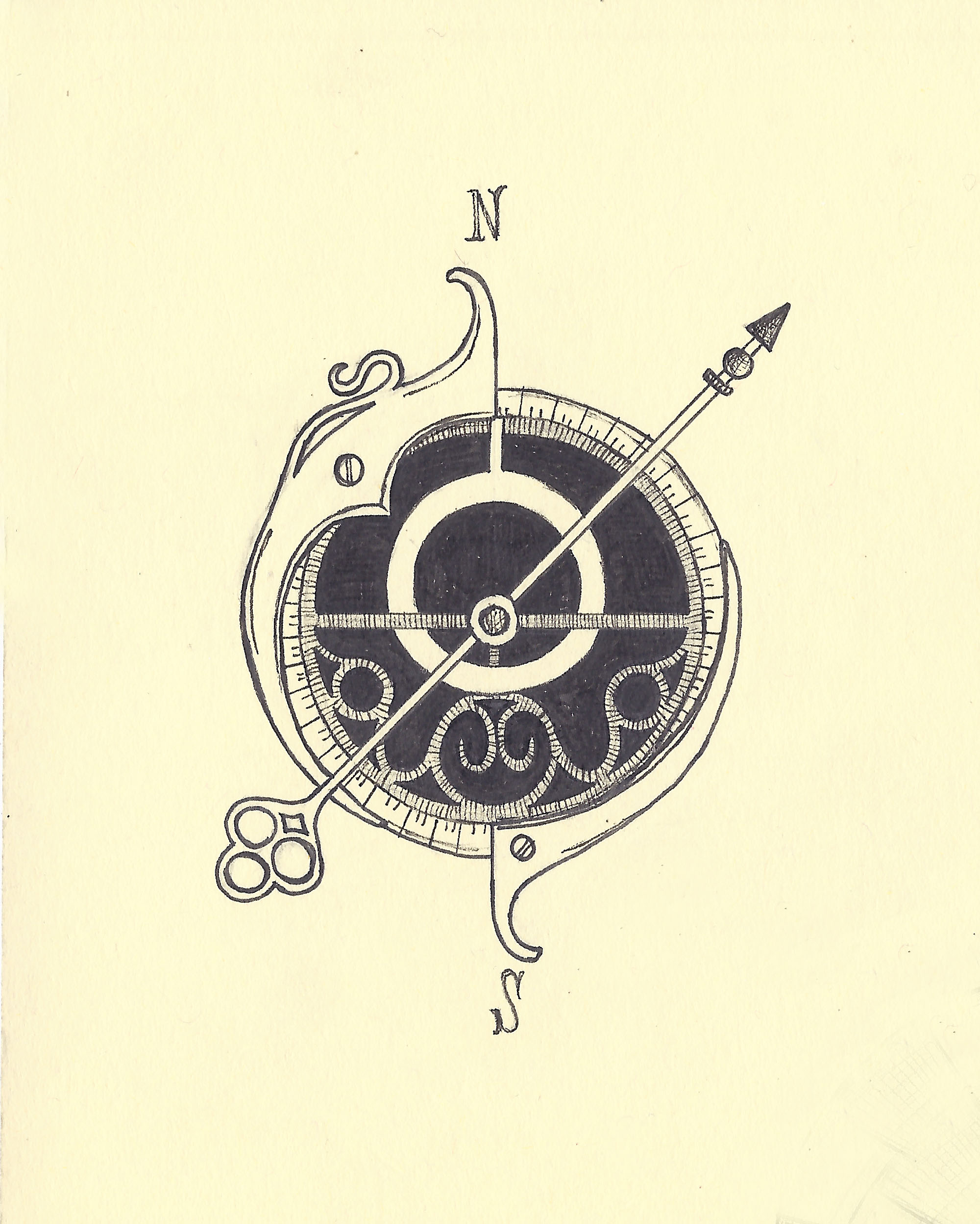 2000x2495 Astrolabesteampunk Compass Illustrated Maps