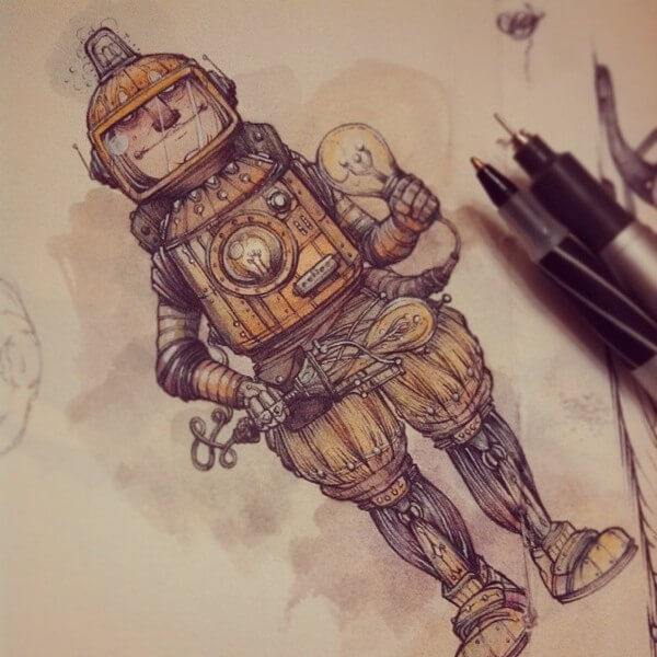 600x600 40 Beautiful Steampunk Drawings Amp Illustrations Inspirationfeed