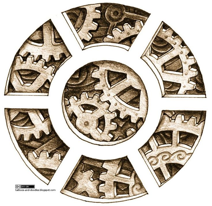 736x715 Image Result For Mechanical Tattoo Circle Tats