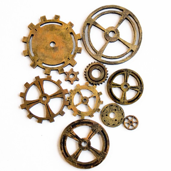 570x570 Cogs Wheels Clock Gears For Crafts Steampunk