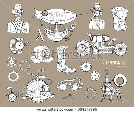 450x380 Steampunk Objects And Mechanism Collection Machine, Clothing
