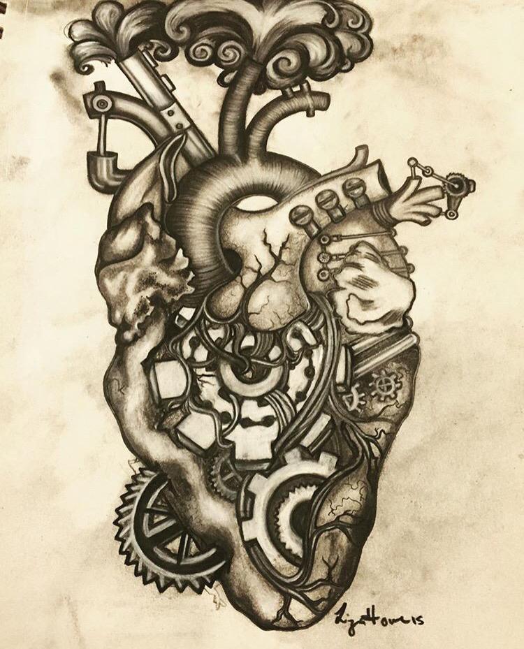750x929 Steampunk Heart Steampunk Heart, Tattoo And Steampunk Drawing