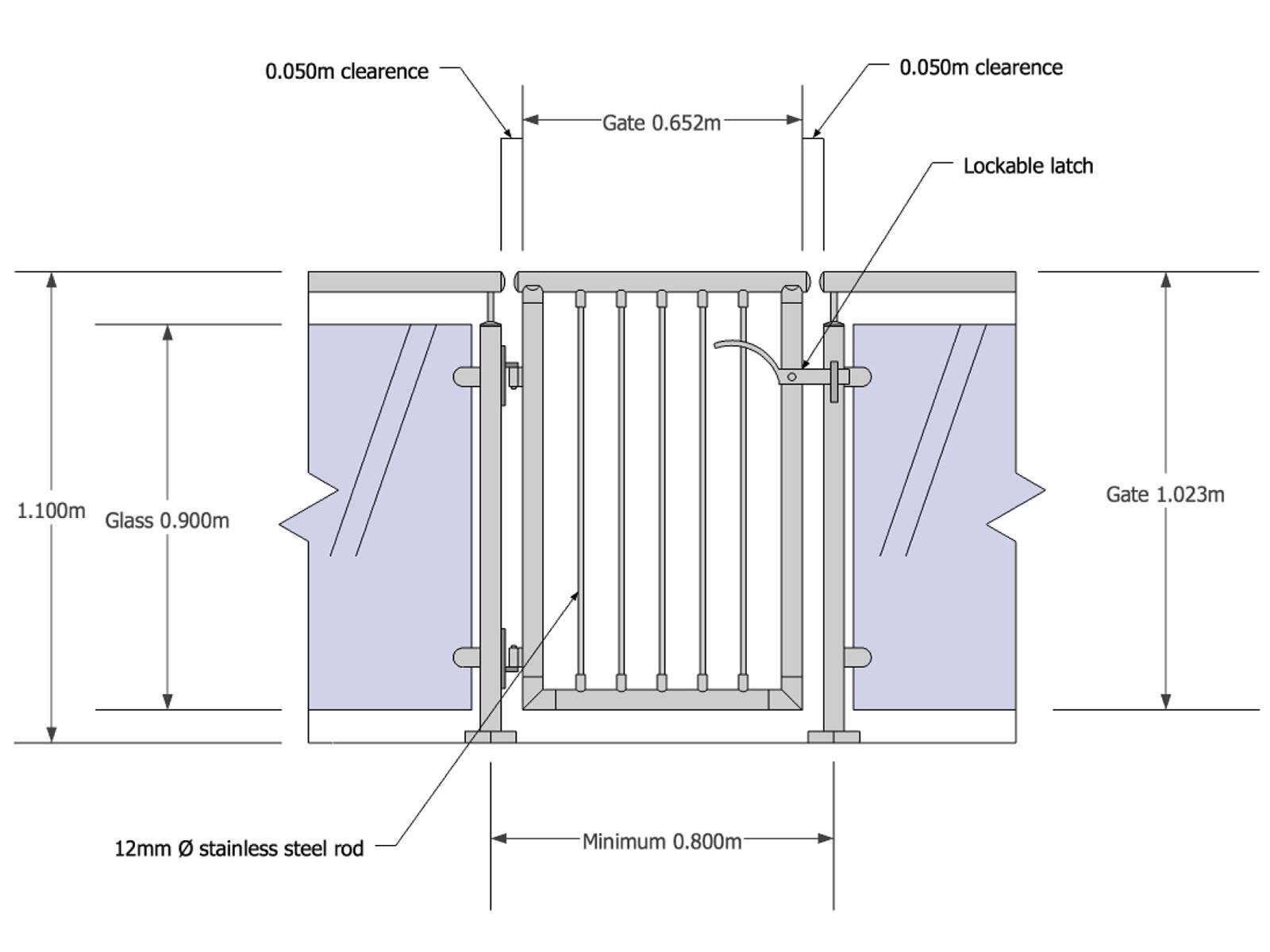 1600x1200 Gate Steel Std Drawing