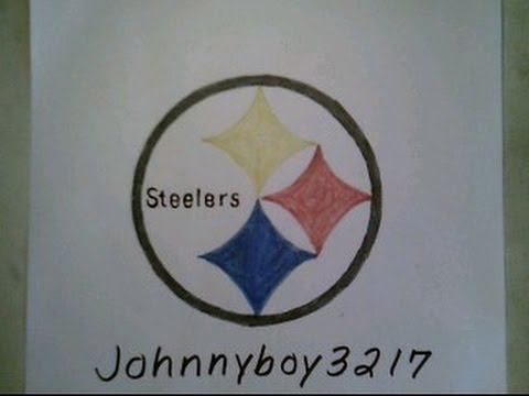 480x360 How To Draw Pittsburgh Steelers Logo Sign Easy Step By Step