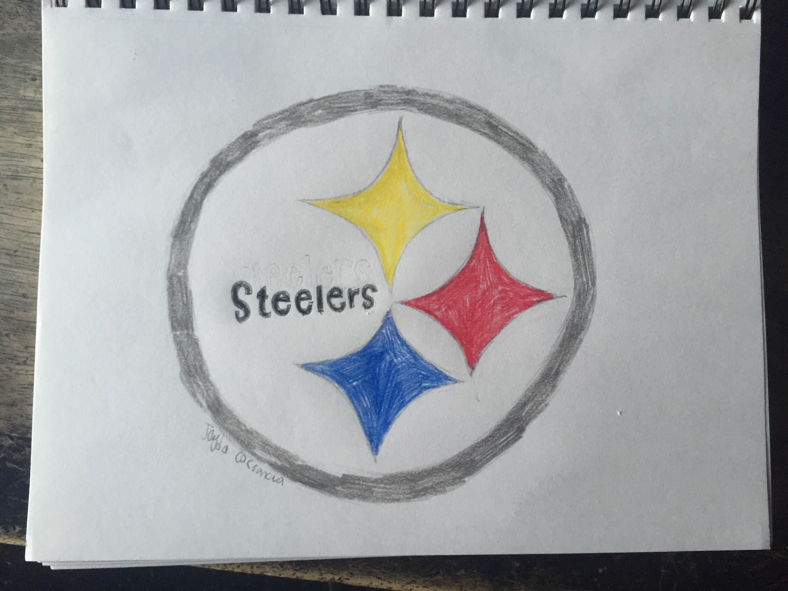 3264x2448 Pittsburgh Steelers Logo Drawing (Time Lapse)