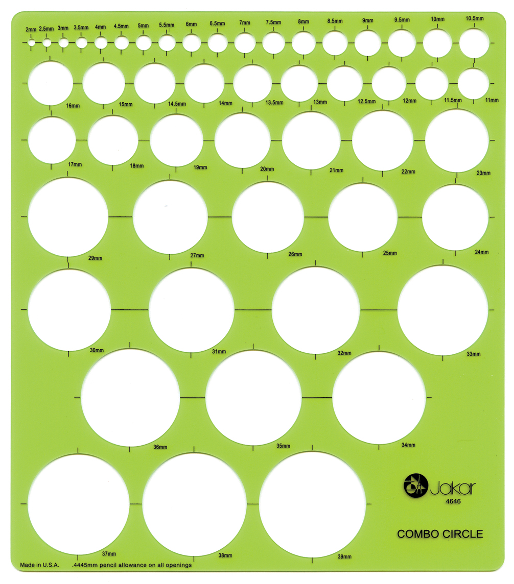 1006x1144 Jakar Combo Circles Round Stencil Template Artist Design Drawing