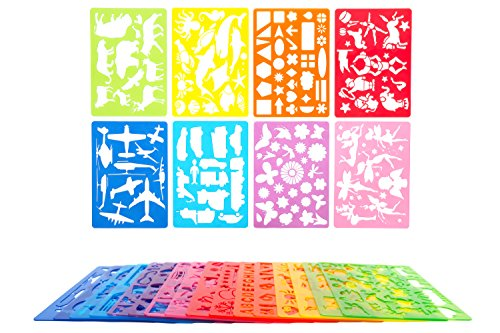 500x333 Mimtom Drawing Stencils For Kids More Than 370 Shapes 20 Piece
