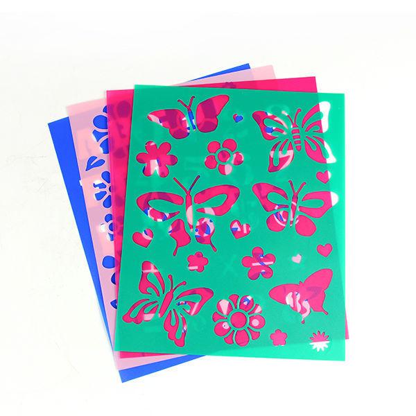 600x600 New Product Plastic Children Drawing Stencil Template, Plastic