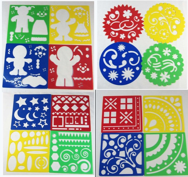 640x602 Free Shipping,15.3cm15.3cm,art Stencil Children Drawing