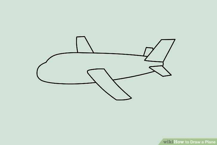 728x485 How To Draw A Simple Aeroplane Learn How To Draw A Simple