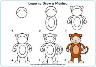 320x223 Printable Step By Step, How To Draw Pictures For Kids. Crafts