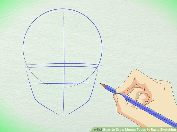728x546 How To Draw Manga Faces In Basic Sketching (With Pictures)