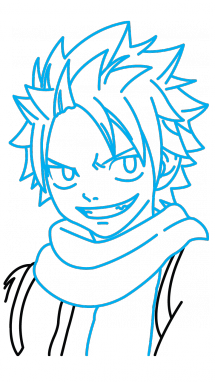 215x382 How To Draw Natsu, Fairy Tail, Anime, Easy Step By Step Drawing
