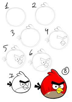 236x334 How To Draw Red Angry Bird Step By Step Drawings