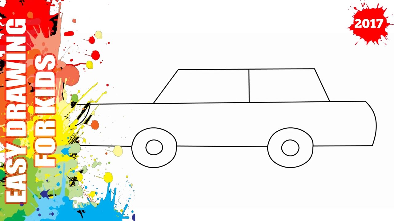 1280x720 How To Draw A Car Easy And Simple For Kids